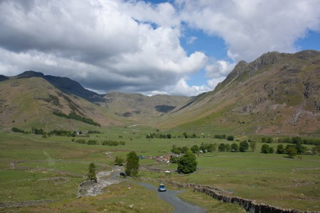 Hardknott and Wrynose Pass in Lake District