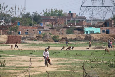 India - village and cricket