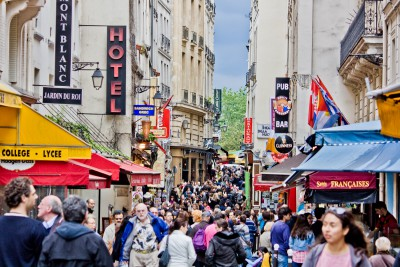 Latin Quarter in Paris