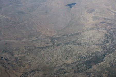 View of Afghanistan from the plane